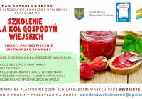 Szkolenie dla KGW – Jak bezpiecznie wytwarzać żywność